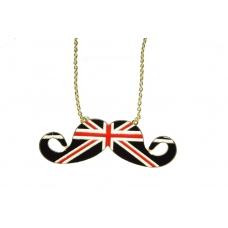 Zwarte Britse Vlag Snor Ketting