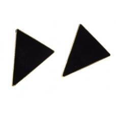 Zwarte Driehoek Oorbellen