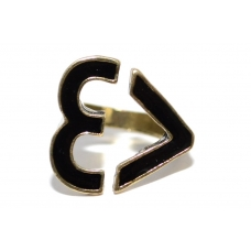 Zwarte Hart Ring