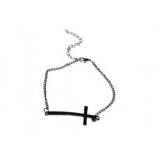 Zwarte Kruis Armband