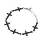 Zwarte Kruisjes Armband