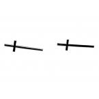 Lange Zwarte Kruis Oorbellen