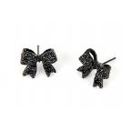 Zwarte Luxe Strik Oorbellen