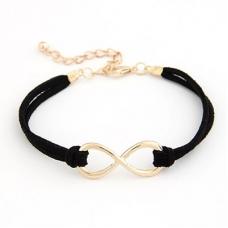 Zwarte 'Oneindige' Armband