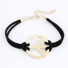 Zwarte Peace Teken Armband