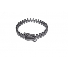 Zwarte Rits Armband
