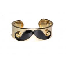 Zwarte Snor Armband