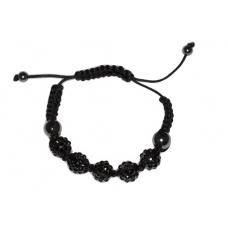 Zwarte Kralen Armband