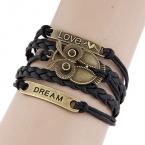 Zwart Met Gouden Dream, Uil & Love Armband