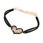 Zwart Met Gouden Hartje 'Love' Armband