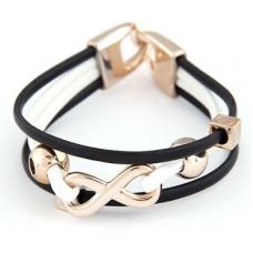 Zwart Met Gouden Infinity Armband