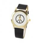 Zwart Met Gouden Peace Horloge