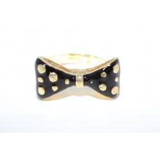 Zwart met Gouden Strik Ring