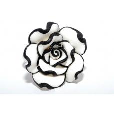 Zwart-Witte Bloem Ring